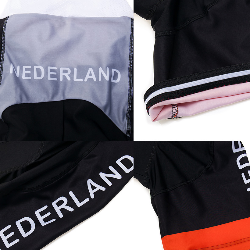 Crossrider 2019 Team Nederland Cycling Jersey MTB bike Clothing Men Short Set Ropa Ciclismo Bicycle Wear Clothes Maillot Culotte 4