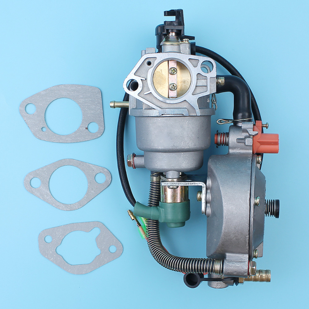 Carburateur double Kit de Coversion de carburant starter automatique pour Honda GX390 188F/190F 4.5KW-5.5KW générateur de moteur gpl/CNG/essence Carb