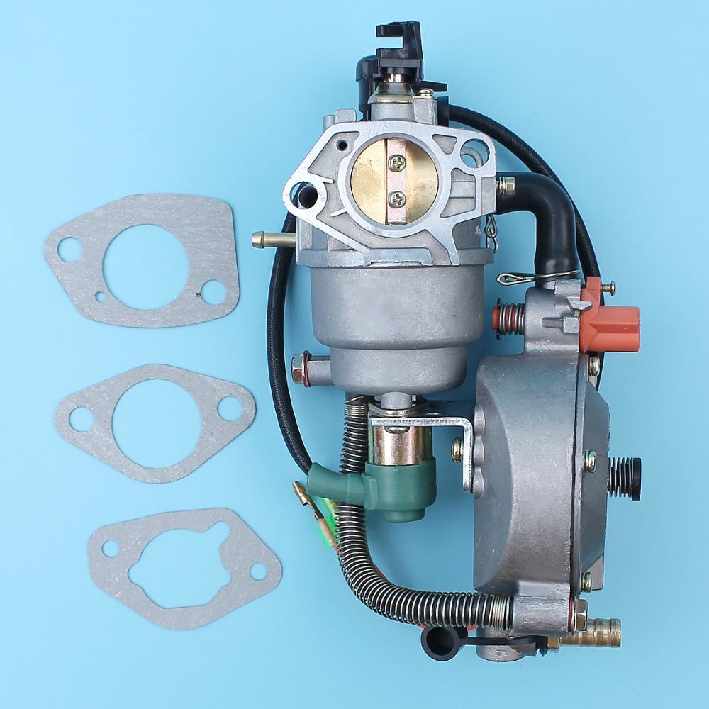 цена на Carburetor Dual Fuel Coversion Kit Auto Choke For Honda GX390 188F/190F 4.5KW-5.5KW Engine Generator LPG/CNG/GASOLINE Carb