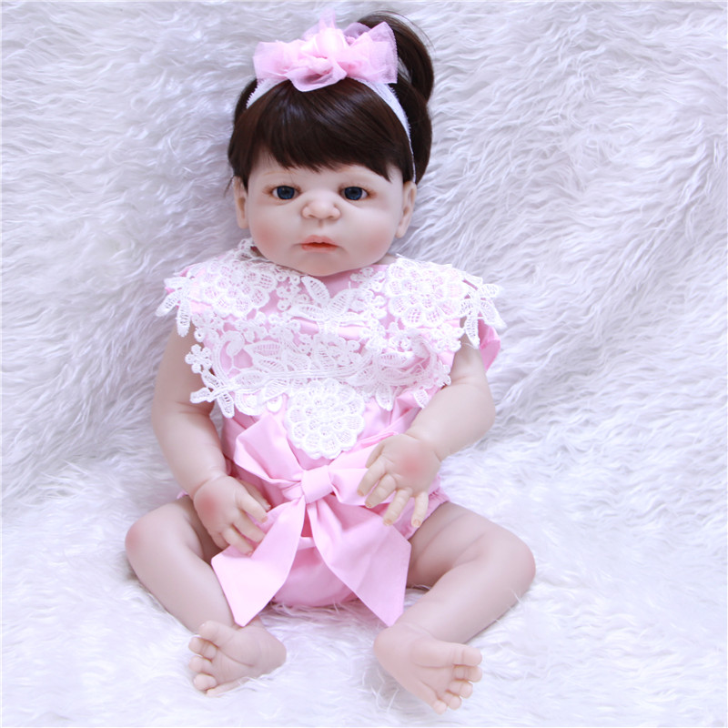 Lovely real bebe silicone reborn dolls 2255cm children bath doll play house toys gift bonecasLovely real bebe silicone reborn dolls 2255cm children bath doll play house toys gift bonecas