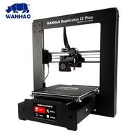 WANHAO I3 3D Printer extruder All Metal Upgrade Frame 3D Printer DIY Kit with Ultrabase 1kg PLA filament 8G SD Card Gift