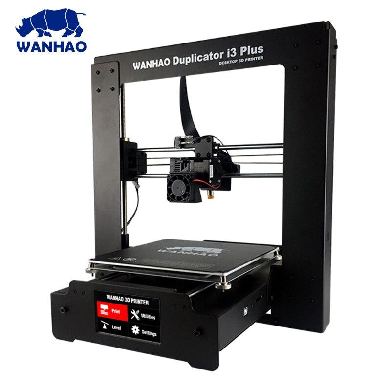 WANHAO I3 3D imprimante extrudeuse tout métal mise à niveau cadre 3D imprimante kit de bricolage avec Ultrabase 1 kg PLA filament 8G carte SD cadeau