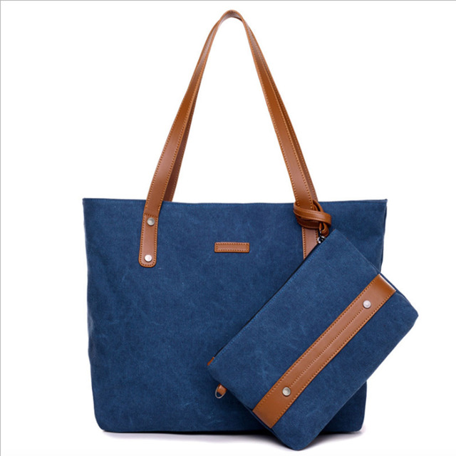 Las S Women Casual Handbags Canvas Top Handle Bag For Beach Travel Ping School Work