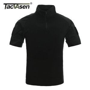 Image 4 - TACVASEN Mens Camouflage Tactical T Shirts Summer Short Sleeve Airsoft Army Combat T shirts Performance Tops Military Clothing