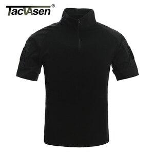 Image 4 - TACVASEN Mens הסוואה טקטי T חולצות קיץ קצר שרוול Airsoft צבא Combat חולצות ביצועים חולצות צבאי בגדים