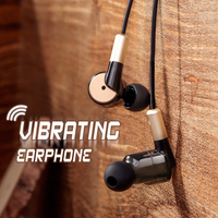 Salar S990 Bass In Ear Earphones Super Vibration Metal Gaming Earphone Headset Shocking Sport Earbud For