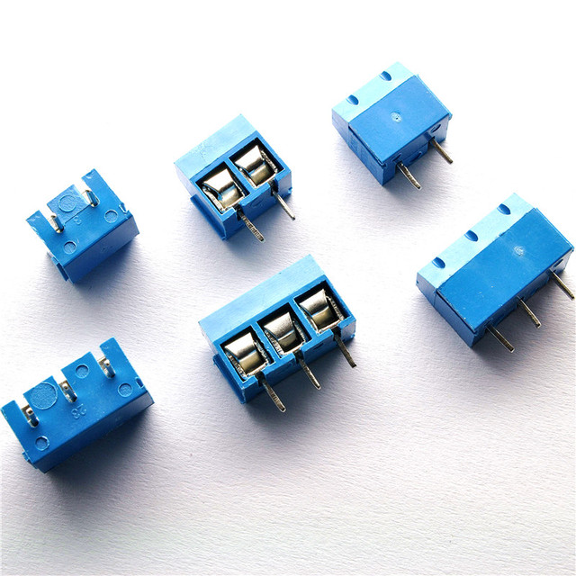 100 PCS/LOT KF301-3P KF301-2P 3Pin 2Pin 5.08mm Straight Pin PCB Screw Terminal Block Connectors 300V 12A 5mm Pitch High qualit