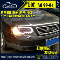 AKD Car Styling Head Lamp for Audi A6 LED Headlight 1999 2004 A6 C5 Headlights LED DRL light house projector Lens Bi Xenon Beam
