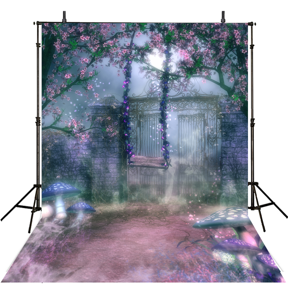 Floral Photography Backdrop Vinyl Backdrop For Photography Alice in Wonderland Background For Photo Studio Fotohintergrund allenjoy backdrop background wonderland