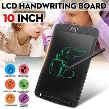 10 بوصة LCD بخط اليد مجلس محو جزئيا للأطفال الكتابة قلم سميك تسليط الضوء على لوح رسم الكتابة على الجدران الإلكترونية