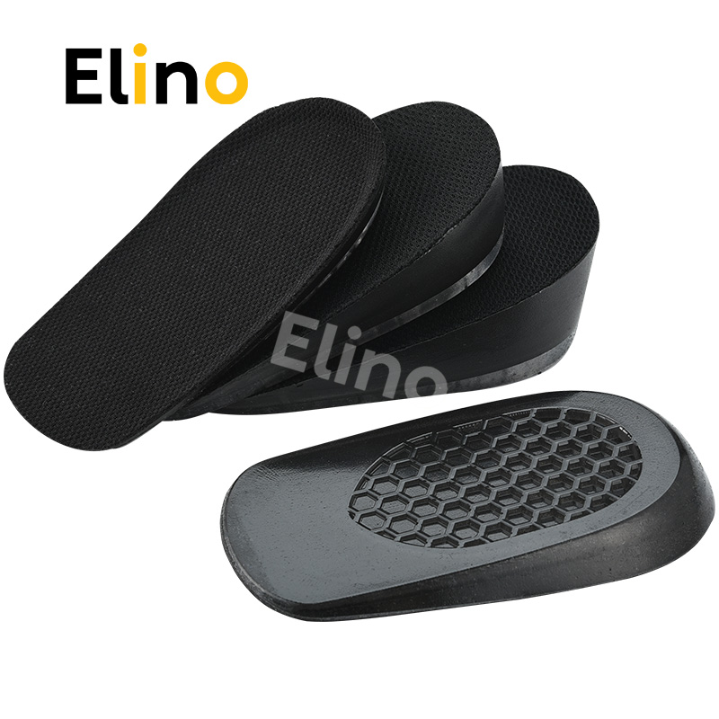 Elino Silicone Gel Hight Increase Insoles Half Pads for Men Women Breathable Mesh Heel Spur Feet Cup Cushion Pad 1.5-3.5 cm