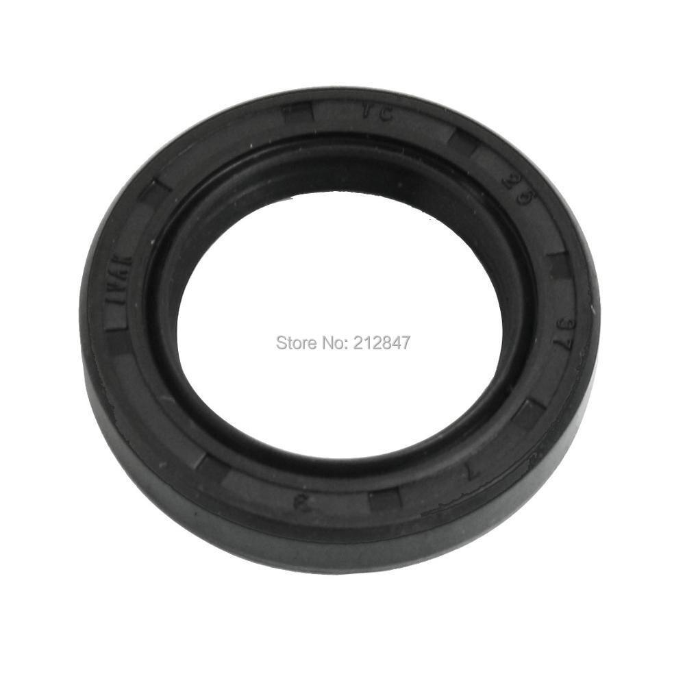 Black NBR TC Double Lip Rotary Shaft Oil Seal 25mm x 37mm x 7mm цена