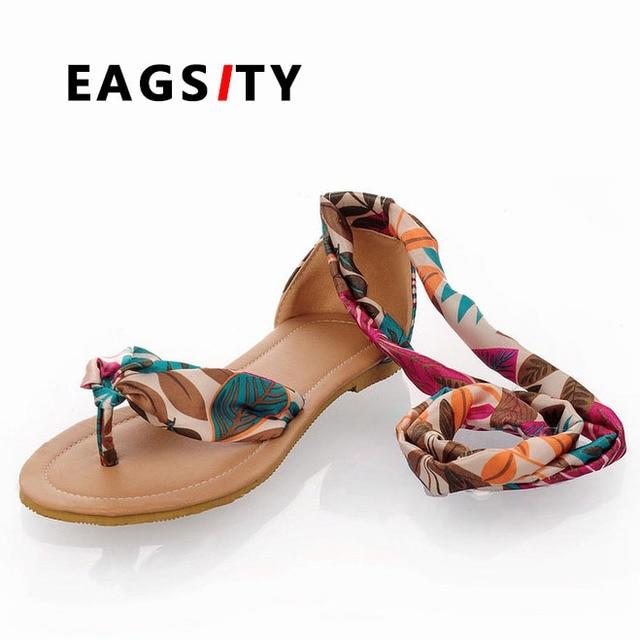 nuovo concetto dd6a6 19063 US $29.6 |Fashion flower stampa macchia delle donne di stile nazionale  sandali ragazza spiaggia piatta sandali scarpe da donna 3 colori in Fashion  ...