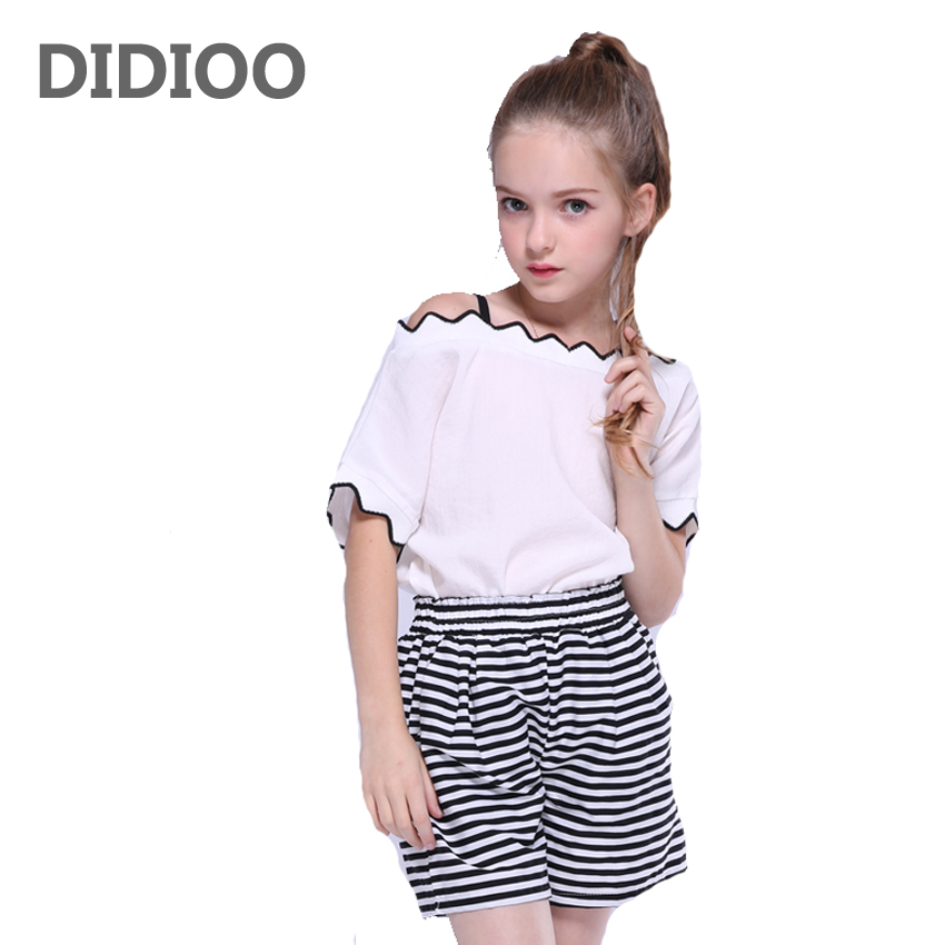 Children Outfits Girls Summer Clothes Sets Kids White Tops