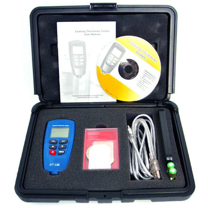 paint Coating thickness gauge car paint tester 0 1250um with Built in Auto F NF Probe USB Cable CD software in Width Measuring Instruments from Tools
