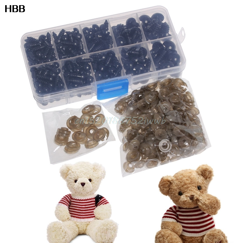 240PCS 6-12 MM Doll Eyes para Bear Stuffed Toys Snap Scrapbooking - Muñecas y accesorios - foto 2