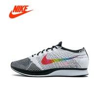 Nike Flyknit Racer Для мужчин кроссовки дышащая Спортивная Открытый кроссовки оригинальные подлинные дышащий Брендовая Дизайнерская обувь 526628