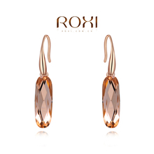ROXI Brand New Fashion Rose Gold Plated Jewelry Zirconia Crystal Ear Drop Earrings Delicate Large Elegant Women Dangle Earring