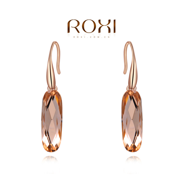 ROXI Earrings For Women Fashion Jewelry Rose Gold Color Zirconia Crystal Earrings Delicate Engagement Wedding Gift pendientes
