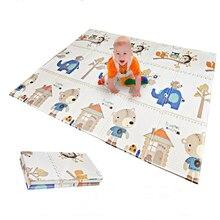 Детский игровой коврик, детский коврик пазл XPE, складной мягкий детский коврик для ползания, игрушки для детей, развивающие занятия спортом, 1 см, толстый игровой коврик