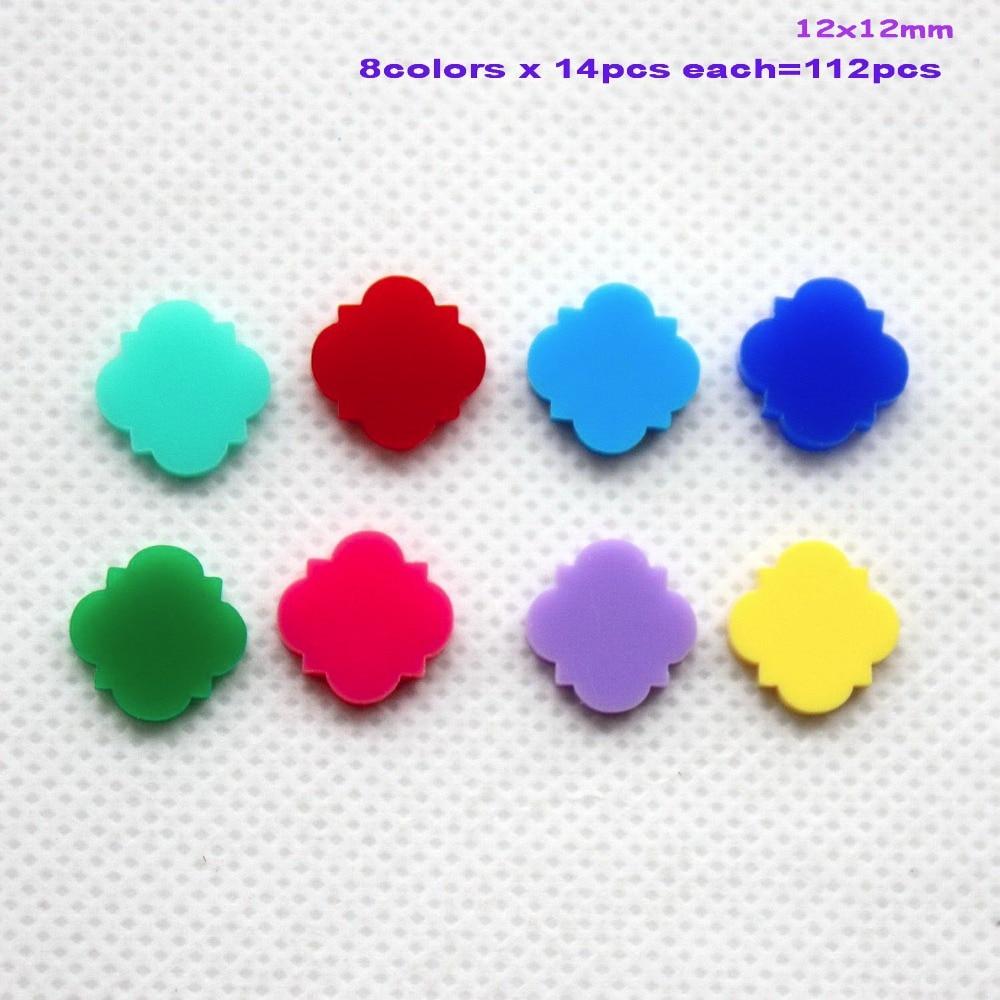 (8colors,112pcs/lot) 12mm Acrylic Beads Jewelry