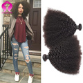 Indiano Afro Kinky Cabelo 3 Pacotes Cabelo Virgem Indiano Afro Kinky Curly Hair Extensions Preto Natural Cabelo Crespo Crespo Indiano