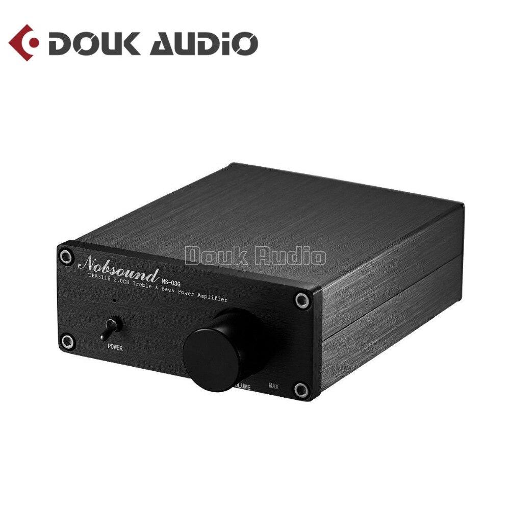 2018 Nouveau Nobsound 200 Watts Mini HiFi TPA3116D2 Puissance Amplificateur Numérique Audio Stéréo Musique Amp Double-canal Noir Châssis