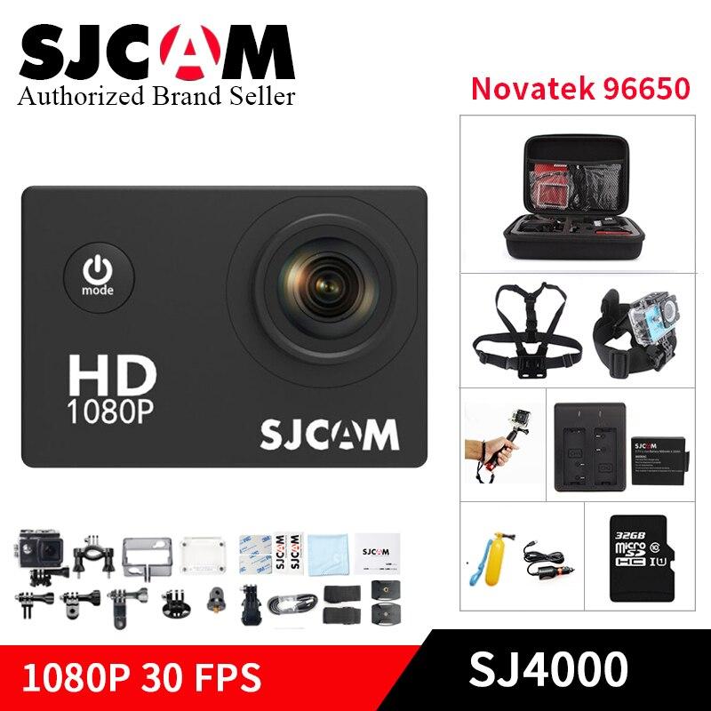 Original SJCAM SJ4000 base Action caméra aller étanche pro 1080 P casque kamera HD 2.0