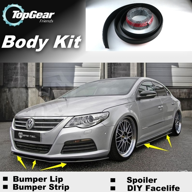 bumper lip deflector lips for volkswagen vw passat cc. Black Bedroom Furniture Sets. Home Design Ideas