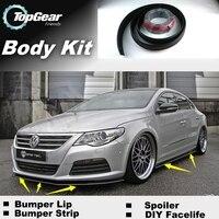 Bumper Lip Deflector Lips For Volkswagen VW Passat CC Front Spoiler Skirt For TopGear Fans Tuning View / Body Kit / Strip