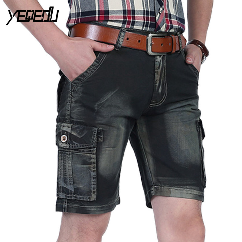 #3734 Men clothing 2018 Summer Cargo shorts men Fashion Vintage short masculino Casual shorts homme Multi-pockets Military