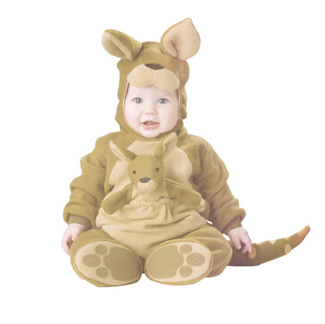 Kangaroo Baby Halloween Autumn Christmas Romper Animals Clothes Girls Cosplay Costume Boys Clothing Set