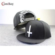 Black cross hip hop hat snapback caps for men sports hats baseball cap printed casquette overwatch caps for women