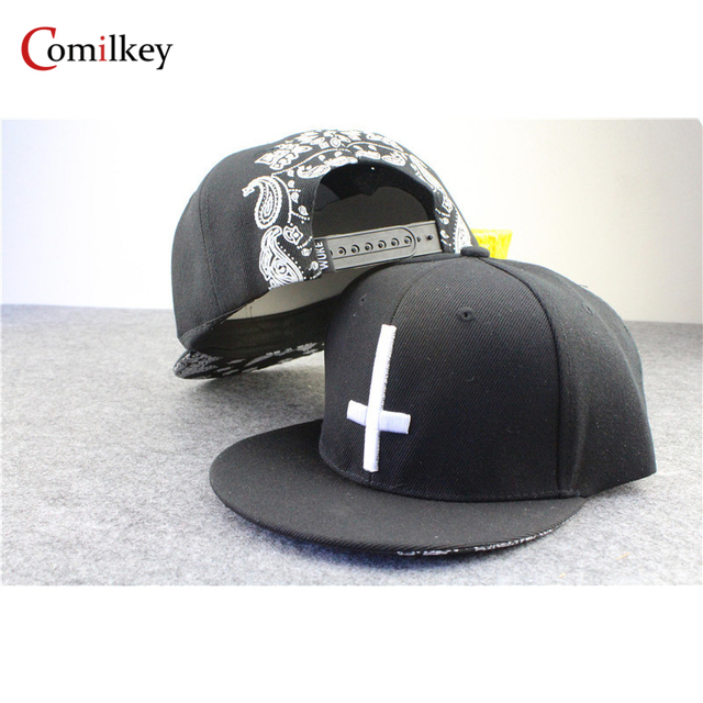 Black cross hip hop hat snapback caps for men sports hats baseball cap printed casquette overwatch caps for women