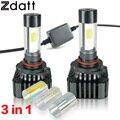 2Pcs 120W 12000LM 9005 HB3 LED Headlight Bulbs High Power COB LED 12V High Beam Super Bright Automotive Lamps 3000K 6000K 8000K