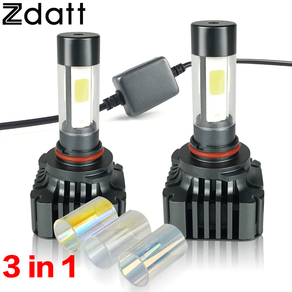 ФОТО 2Pcs Super Bright 120W 12000LM 9005 HB3 LED Headlight Bulbs High Power Car Led Light Fog Lamp Conversion Kit 12V Automobiles