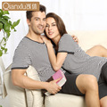 Verano nuevo algodón modal conjunto elástico de punto pijamas par de pijamas de manga corta pantalones cortos de chándal qianxiu 1414