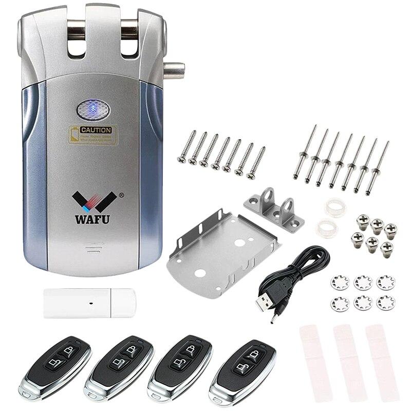 Wafu Wf-018 serrure de porte électrique intelligente contrôle sans fil avec télécommande ouverture et fermeture sécurité prise en charge Ios Android App pour Ip