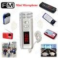2016 Nueva Llegada shippng Libre! nueva Portátil Mini FM Micrófono Inalámbrico Micrófono de Condensador para el Megáfono