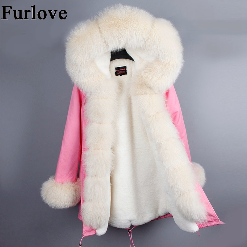 Womens Winter Jackets Women Fur Parka Coat Real Fox Fur Collar Hooded Coats Ladies Casual Military Jacket Warm Thick Long Parkas winter coat women womens jackets natural raccoon fur collar hooded jacket real fox fur parka thick coats casual long warm parkas