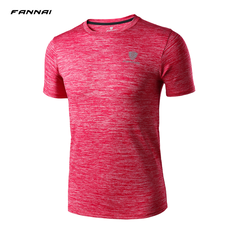 Brand New Quick Dry T Shirt Mens Outdoor Sports Breathable Short Sleeve T-shirt High Quality Man's Gym Running Tee Shirt round neck stripe print fitted quick dry short sleeve men s t shirt suit t shirt shorts