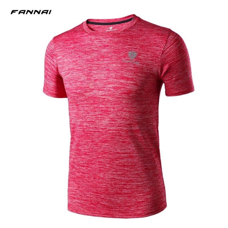 Marke Neue Quick Dry T Shirt Herren Sport Im Freien Atmungsaktive Kurzarm T-shirt Hohe Qualität Mann der Gym T hemd