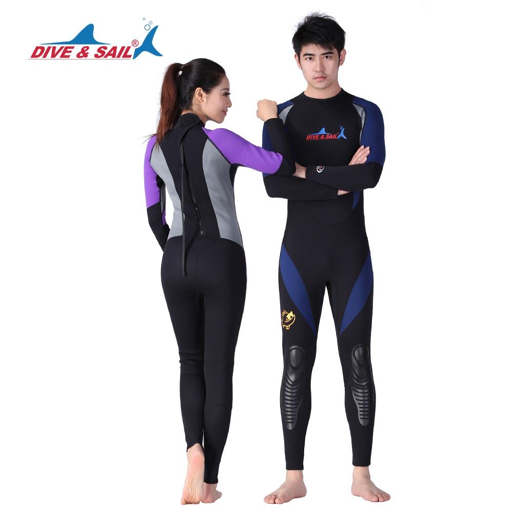 Здесь продается   DIVE&SAIL Offical Store authentic 1.5mm neoprene back zipper wetsuits Surf Suit long Sleeve diving suits swimwear  Спорт и развлечения