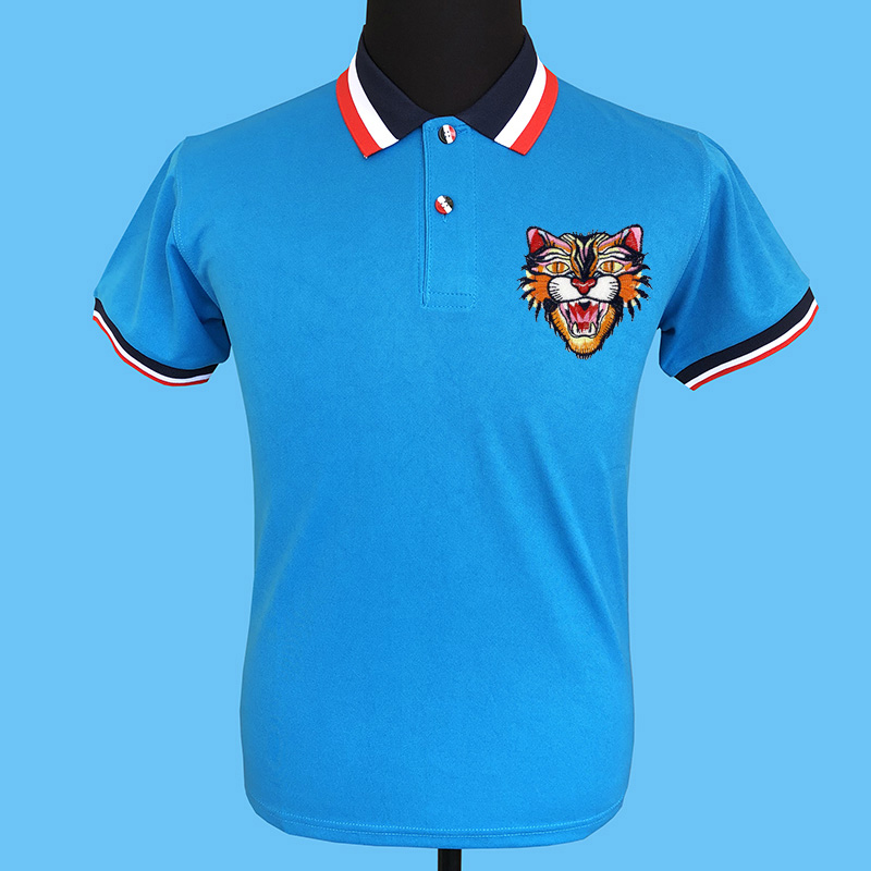Seestern brand clothing new applique embroidery indignation cat badge men   polo   sweater knitted stripe collar fashion party tops