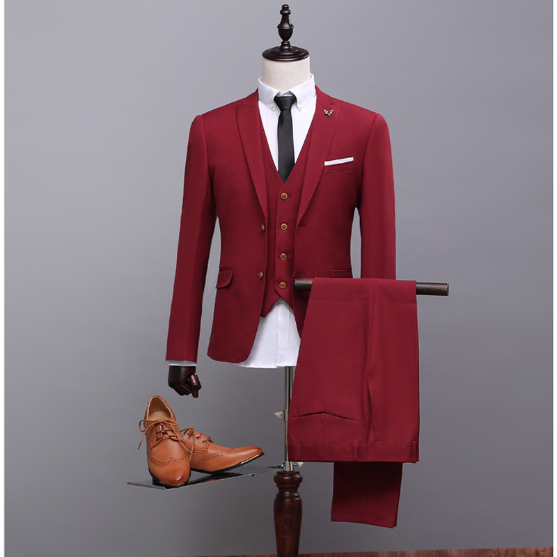 NA39 Fashion New Style Two Buttons Groom Tuxedos Best Man Men Wedding Suits (Jacket+Pant+Waistcoat) Real Picture Suits Designers ...