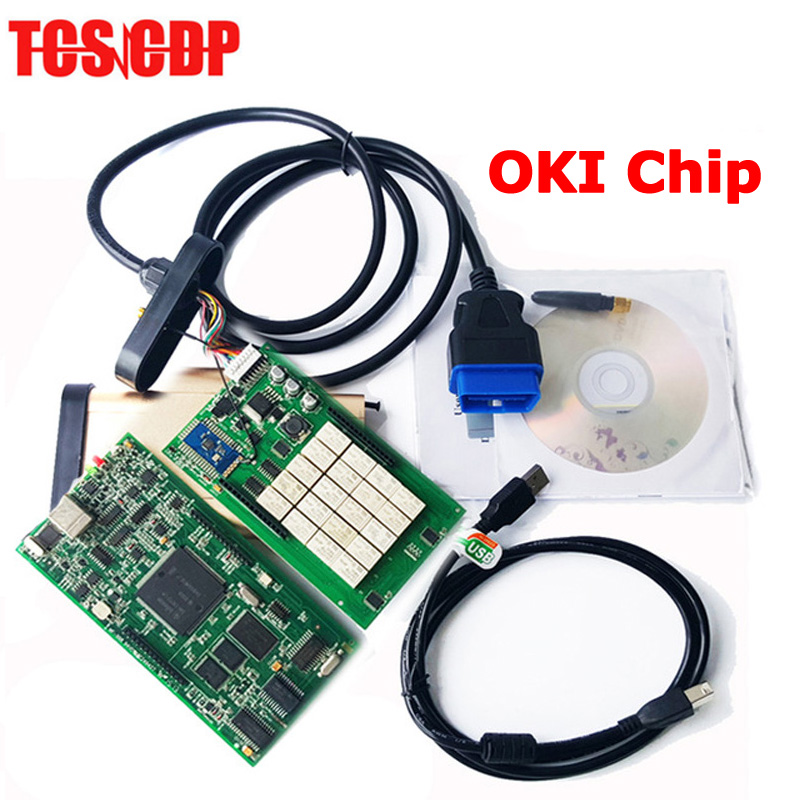 2014.R2/2014.R3 Software TCS CDP With OKI (M6636B OKI Chip) + Bluetooth for Cars & Trucks CDP Pro SCANNER Free Shipping 2014