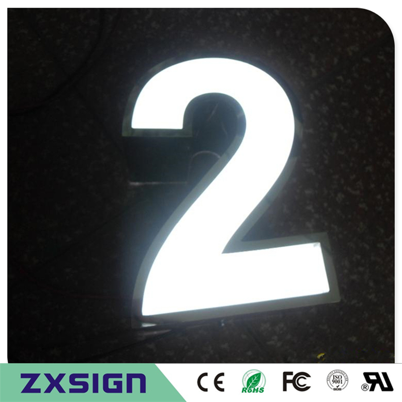 Factory Outlet Outdoor 15cm High Acrylic LED House Letters And Numbers, 6inches High Home Digit Numbers