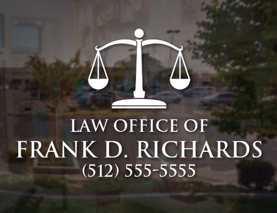 Law Office Sign Lawyer Attorney Office Vinyl Decal Personalized Sticker Company Name Scale of Justice with Phone Number BH05