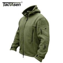 TACVASEN Mùa Đông Quân Sự Fleece Jacket Ấm Người Đàn Ông Chiến Thuật Jacket Nhiệt Breathable Đội Mũ Trùm Đầu Nam Và Áo Khoác Áo Khoác Ngoài Quần Áo