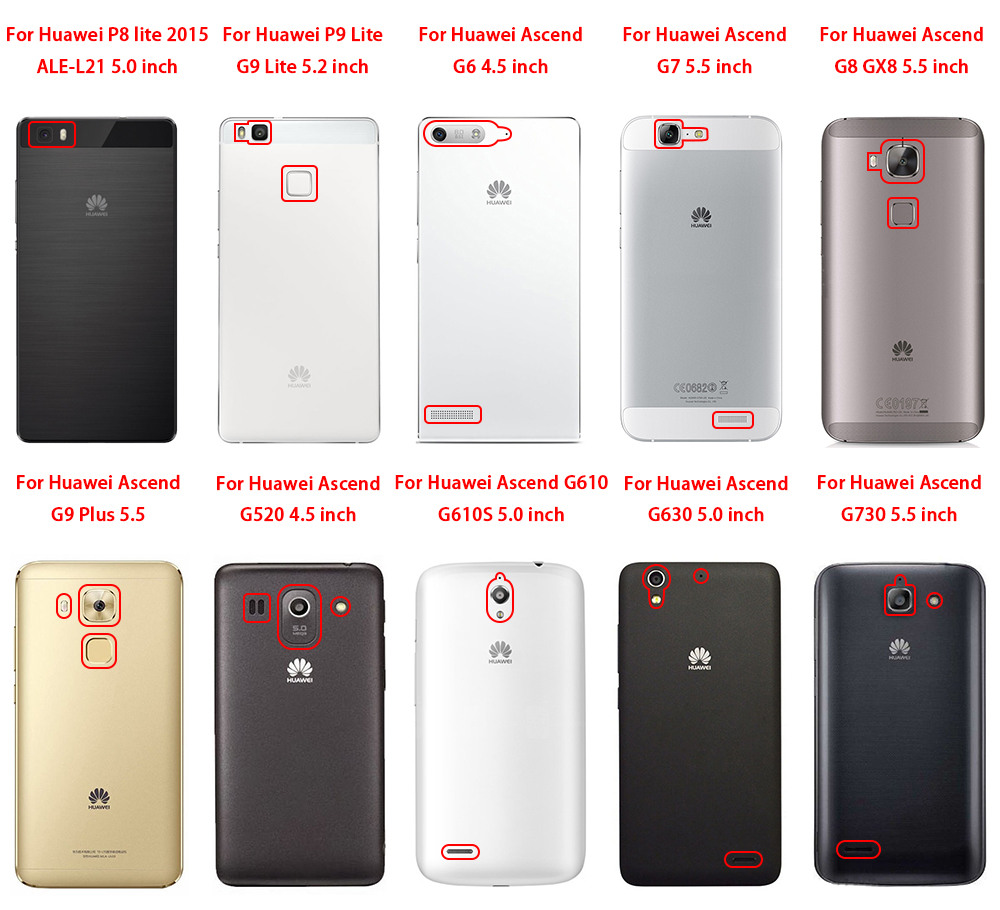 hot sale online 9d37c b37b1 For Huawei Enjoy Ascend 5S G8Mini 6 Mate 7 8 P6 7 8 9 10 G6 7 8 9 520 610S  630 730 GX8 Plus Lite 2015 Hard Plastic Phone Case-in Half-wrapped Case ...